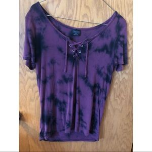 Empyre black and purple shirt